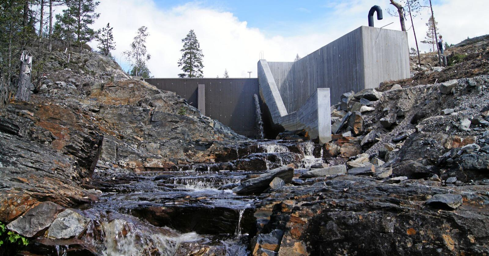 Småkraftverk ved Momrak i Fyresdal. Foto: Erik Vestgård