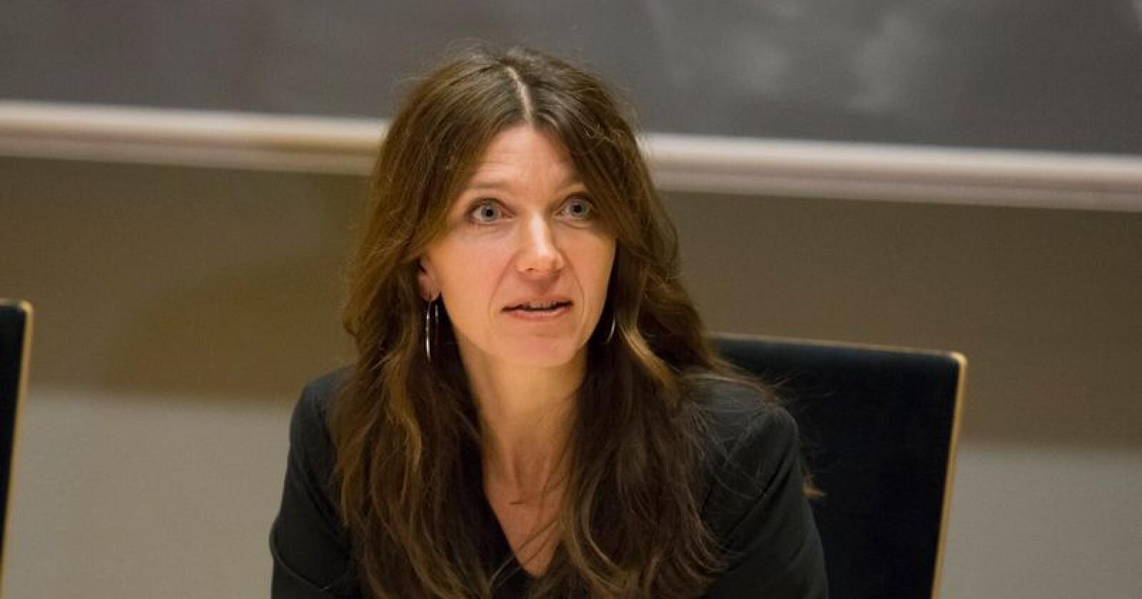 – Det vi ber om er ganske enkelt konkurranse på like vilkår, sier Administrerende direktør Anne-Cecilie Kaltenborn i NHO Service og Handel. Foto: Torstein Bøe / NTB SCANPIX–