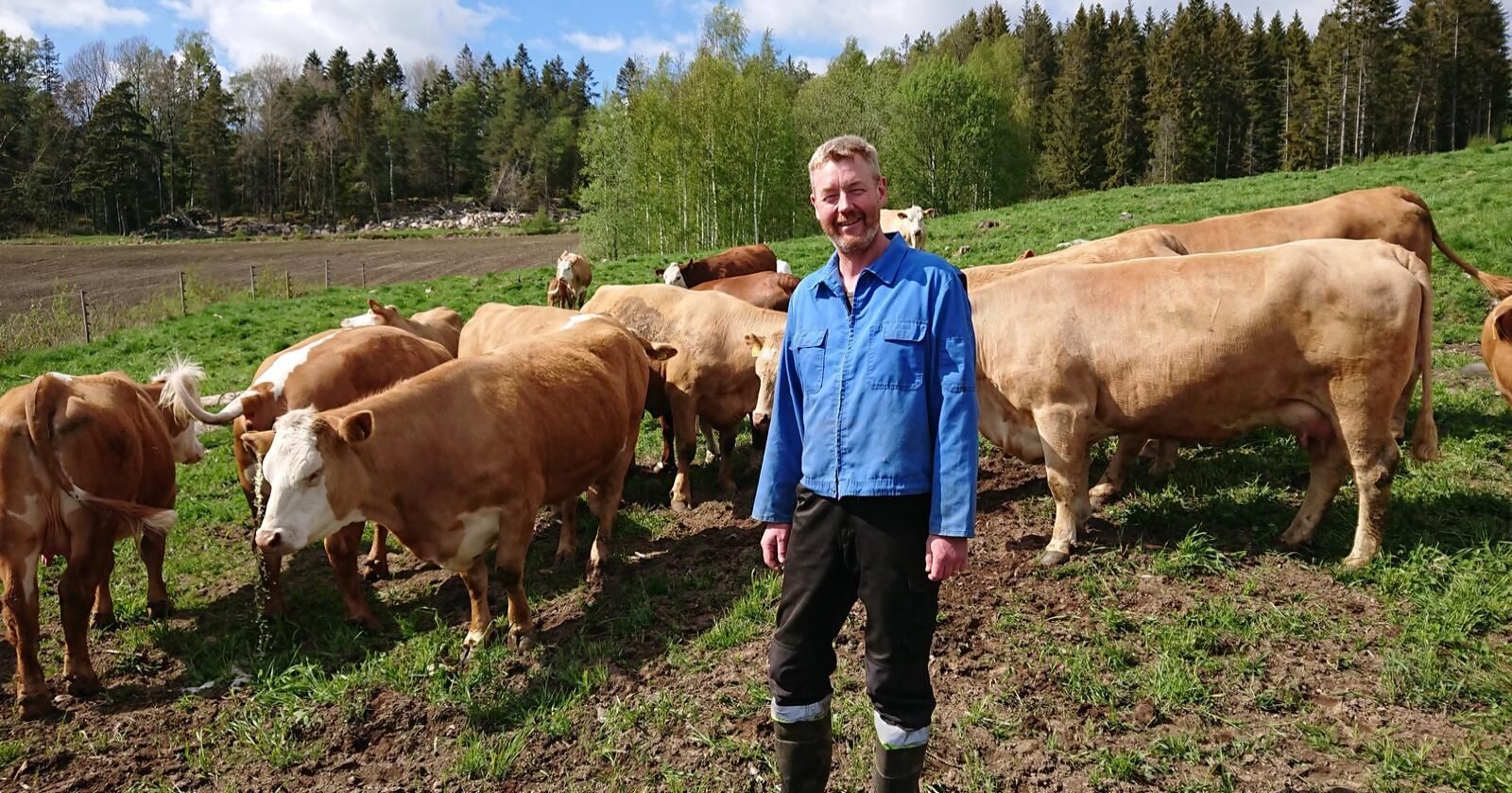 Bjørn Gimming, leder av Norges Bondelag, ber om at Mattilsynet øker antallet uanmeldte tilsyn. Foto: Privat