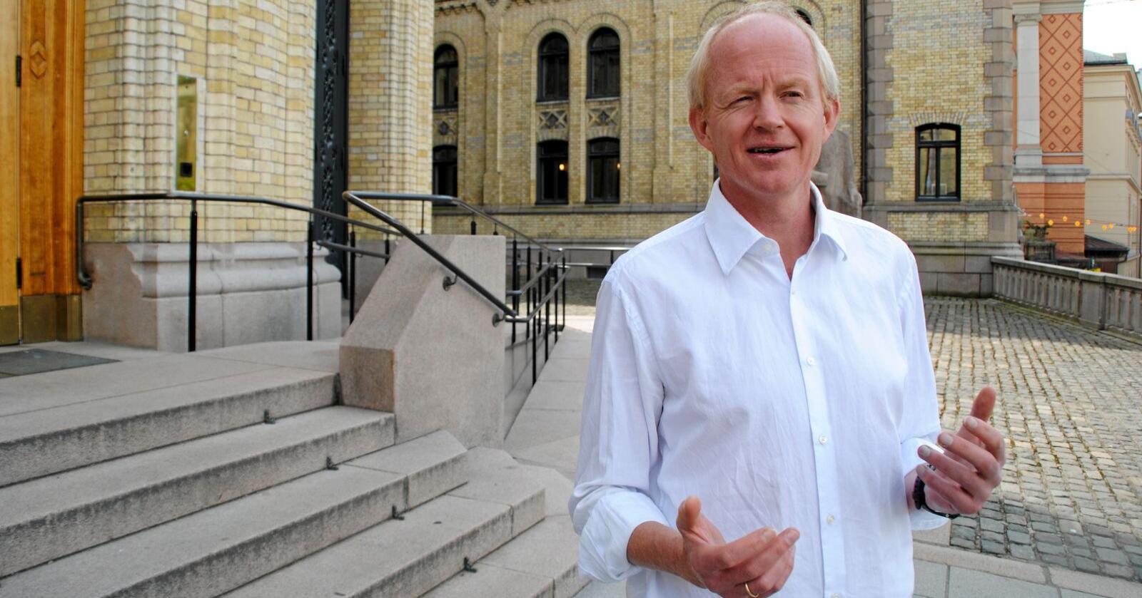 Lars Haltbrekken, stortingsrepresentant for SV. Sitter i Energi- og miljøkomiteen. Foto: Lars Bilit Hagen