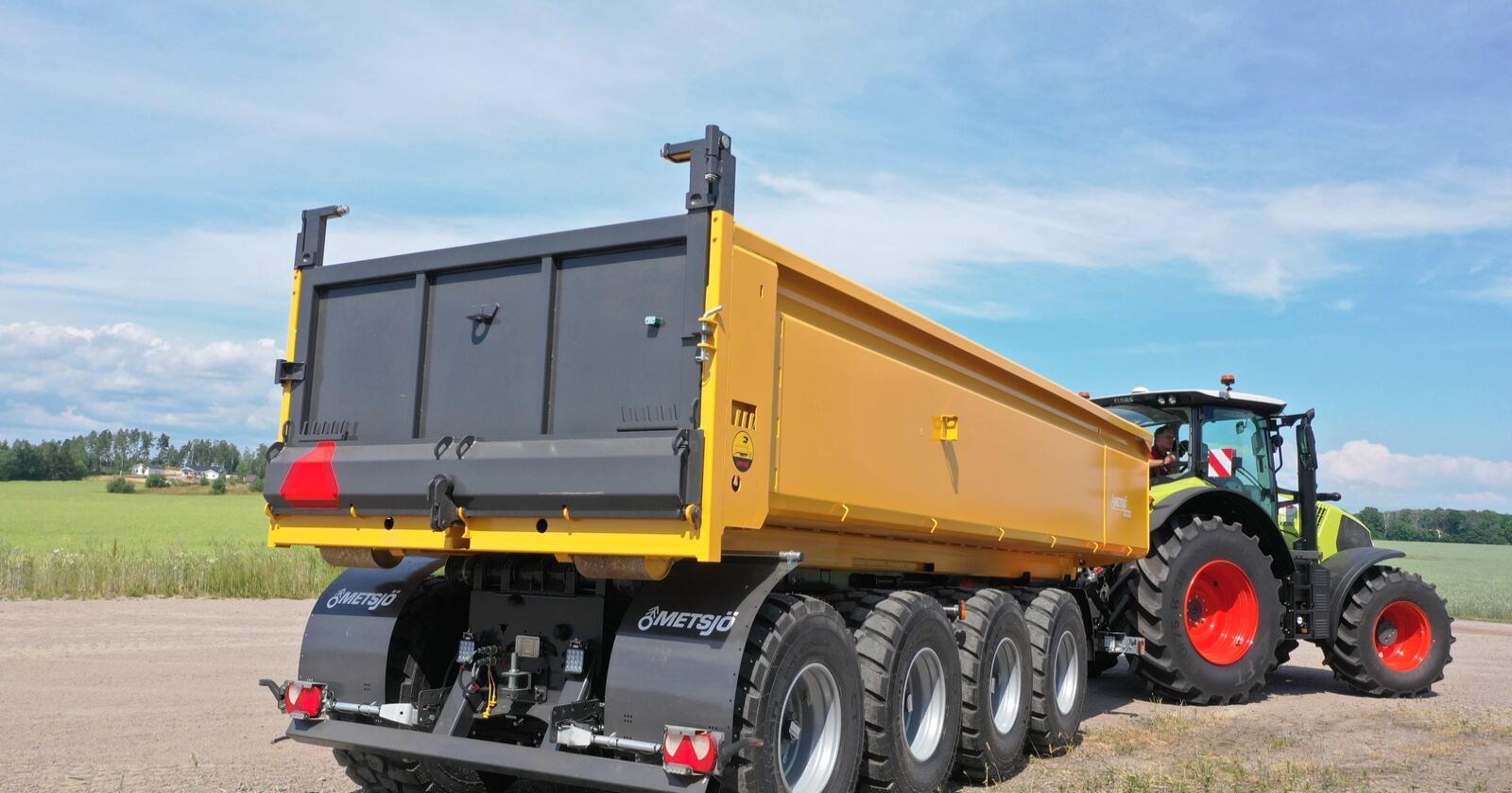 Stadard: Metsjö sin nye henger, bruker standard krokkasser på 6,5-7 meters lengde. Lasteevnen er hele 30 tonn.