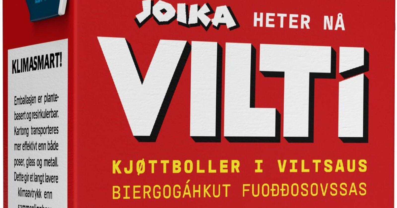 Klassikeren Joika endrer navn til VILTi. Foto: Nortura / NTB