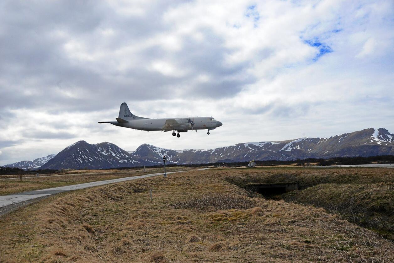 P-3 Orion-fly i lufta på Andøya flystasjon. Foto: Siri Juell Rasmussen