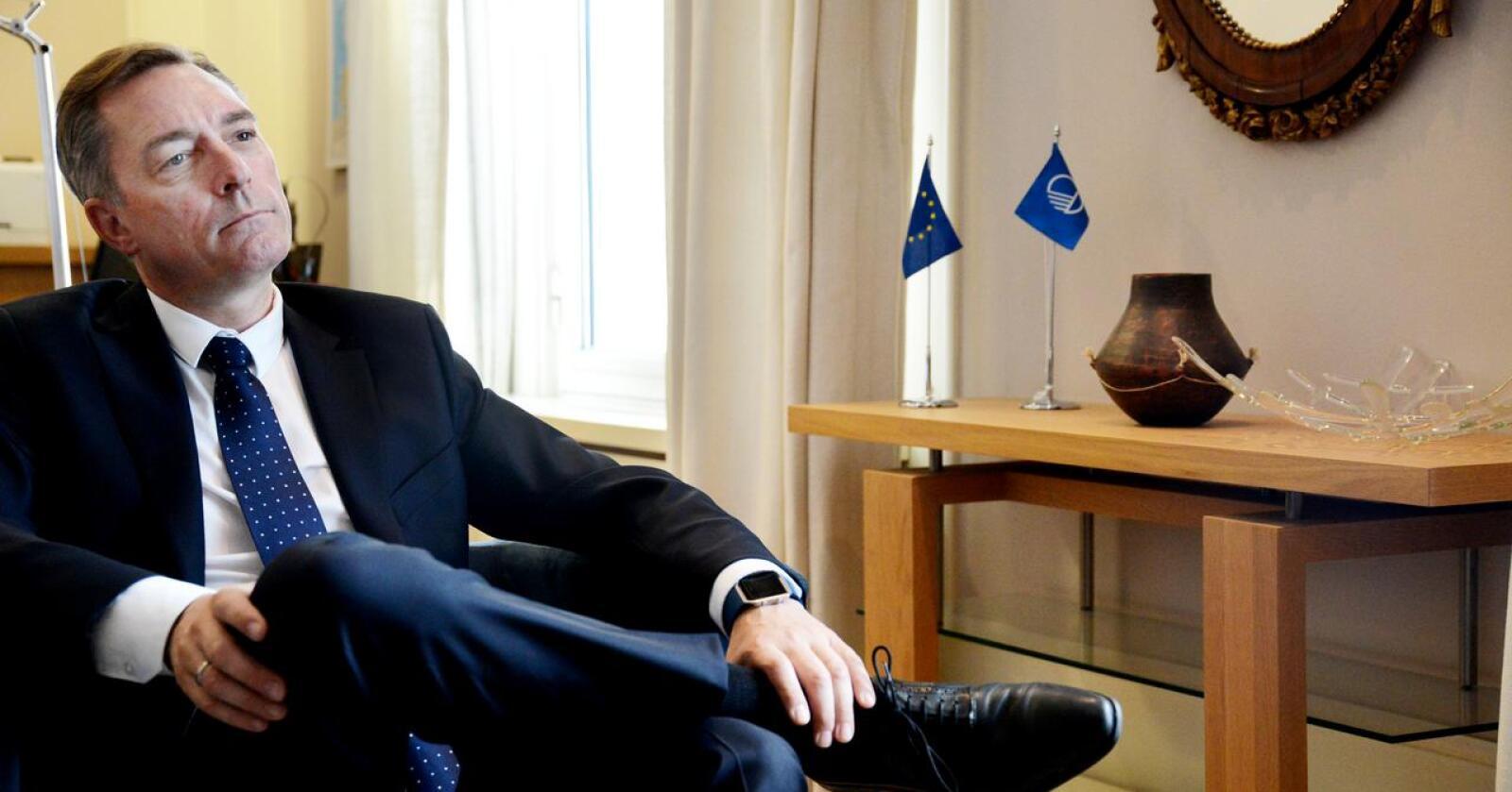 Ansettelsen av nåværende forsvarsminister Frank Bakke-Jensen som ny fiskeridirektør er preget av svært uheldig hemmelighold. Foto: Siri Juell Rasmussen