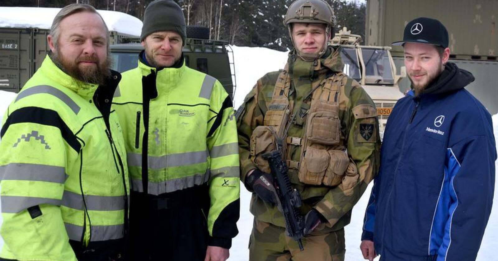 Mekanikerstøtte: Avtalen mellom Bertel O. Steen og Forsvaret innebærer blant annet at A-K Maskiner skal stille med mekanikere til Heimevernet. Foto: Lars Hallingstorp