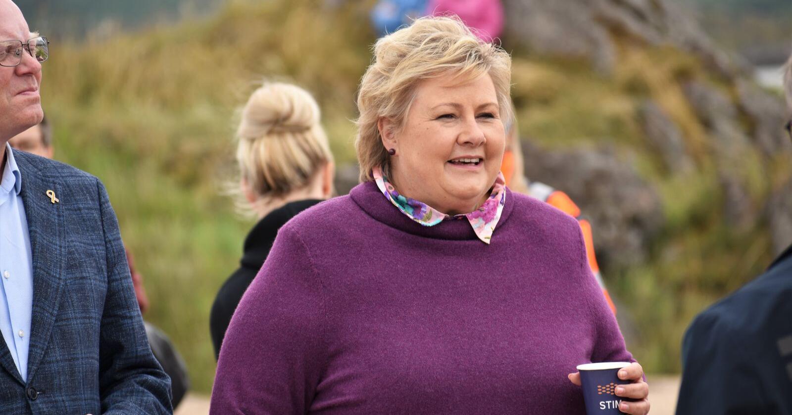 Flest nordmenn mener Erna Solberg er den beste kandidaten til å lede Norge videre etter neste valg. Foto: Henrik Heldahl