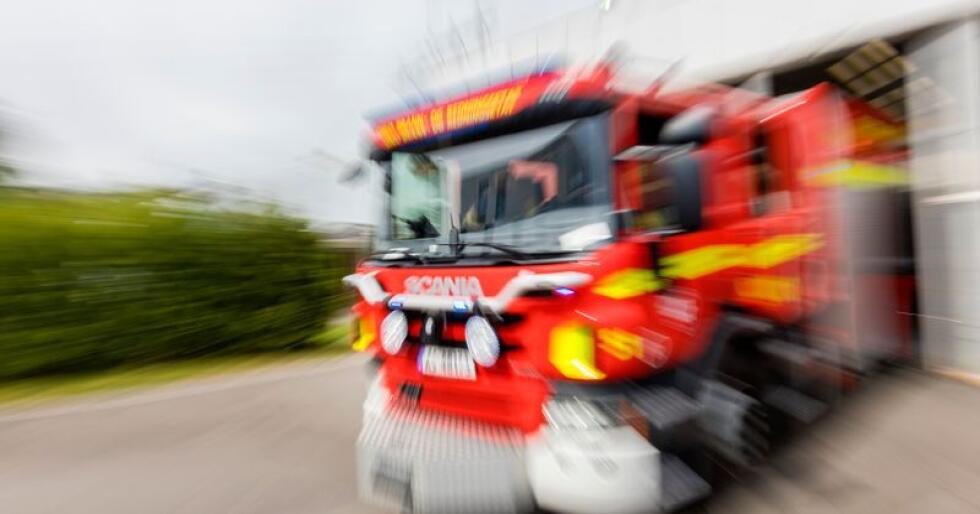 Brannbil under utrykning i Oslo brann- og redningsetat. Illustrasjonsfoto: Gorm Kallestad / NTB scanpix