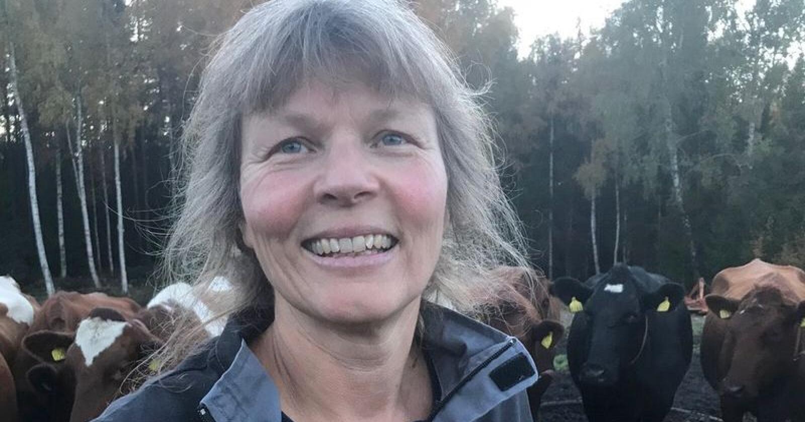 Kjersti Hoff, leder av Småbrukarlaget, inngikk ikke avtale med staten om hvordan kuttet i melkeproduksjon skal gjennomføres. (Pressebilde)