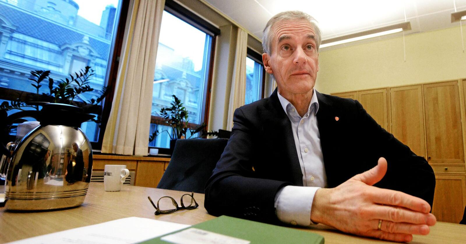 Kvotehandel: Arbeiderpartiets leder Jonas Gahr Støre mener Norge kan gjøre opp for egne utslipp ved å kjøpe og slette kvoter fra EUs kvotesystem. Foto: Siri Juell Rasmussen