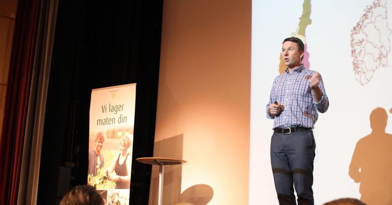 Norges Bondelag mener den nye regjeringsplattformen er en klar forbedring av Jeløya-plattformen og viderefører de viktigste virkemidlene i norsk landbrukspolitikk. (Arkivfoto)