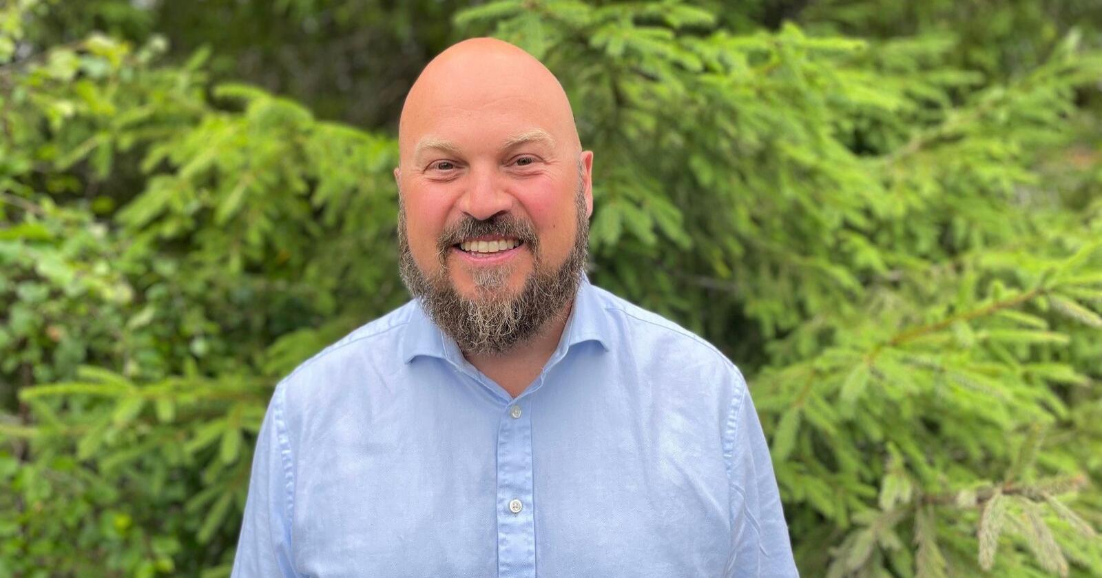 Stig Hellerud tok over som daglig leder i Stora Enso Skog AS 1. april i år. Foto: Stora Enso