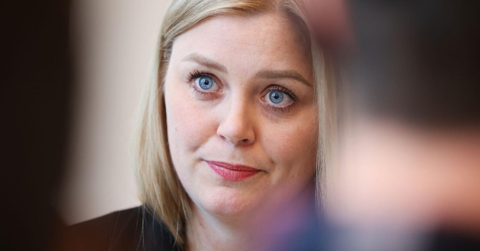 Olje- og energiminister Tina Bru tror energipolitikken vil fortsette å skape debatt etter hvert som mer og mer av samfunnet elektrifiseres i årene framover. Foto: Ørn E. Borgen / NTB