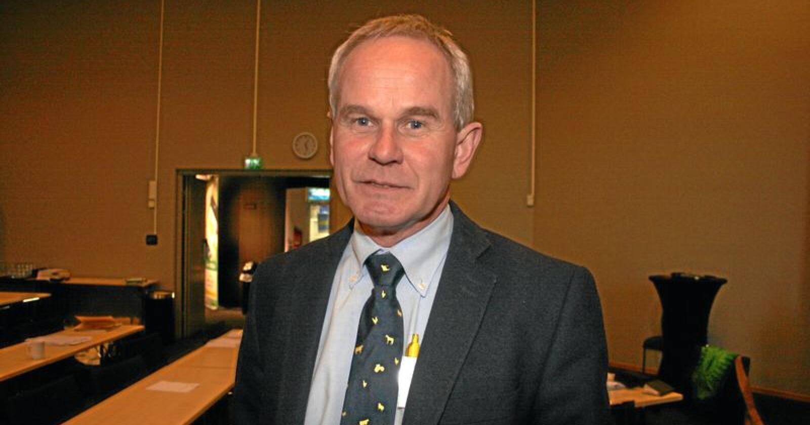Nøgd: Per Harald Vabø, administrerande direktør i Felleskjøpet Rogaland Agder (FKRA), seier seg brukbart nøgd med resultatet for 2018. Foto: Bjarne Bekkeheien Aase