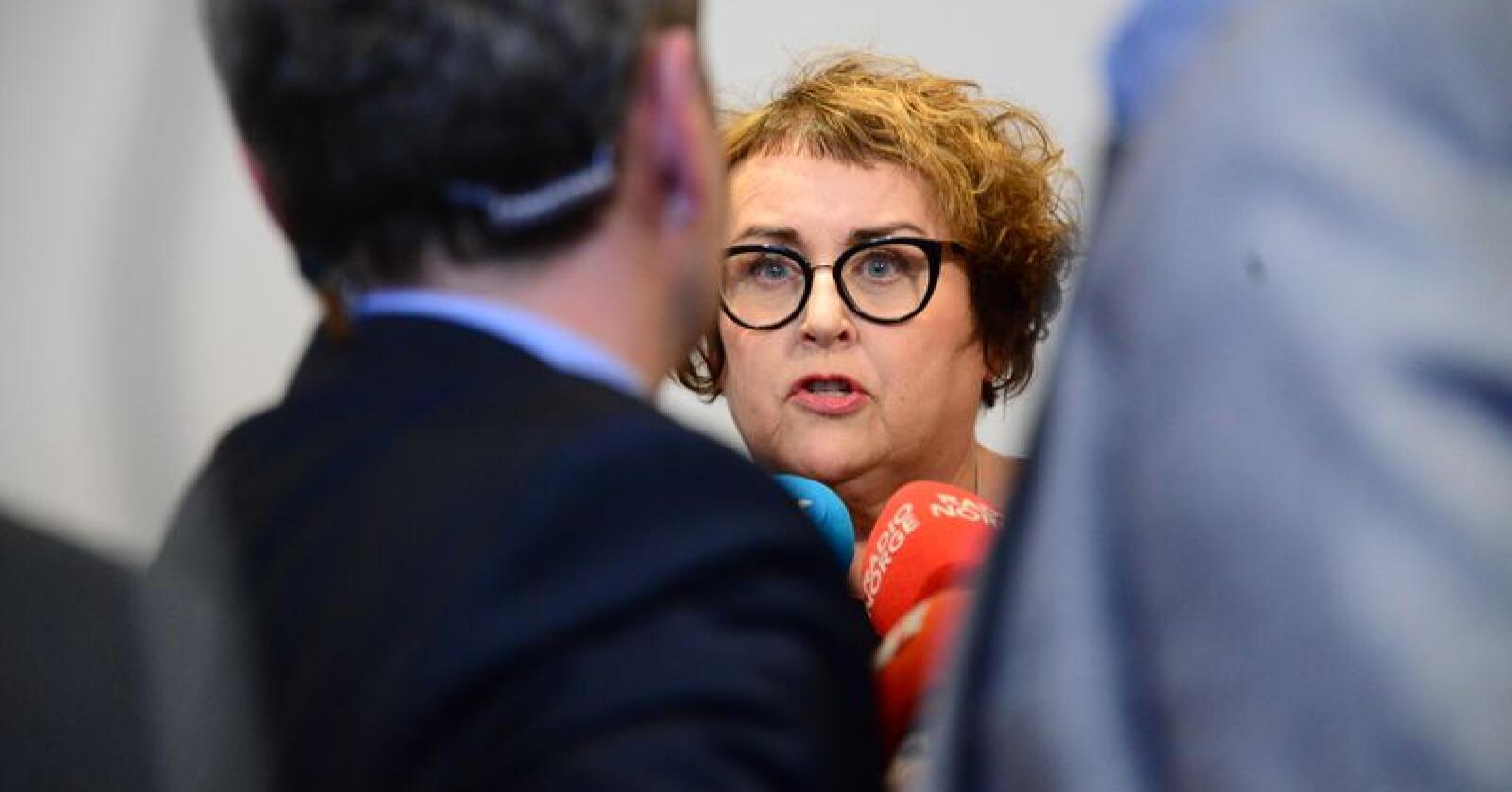 Det har vært mye oppmerksomhet rundt Olaug Bollestad de siste månedene, nå har hun tittelen landbruks- og matminister. Foto: Siri Juell Rasmussen