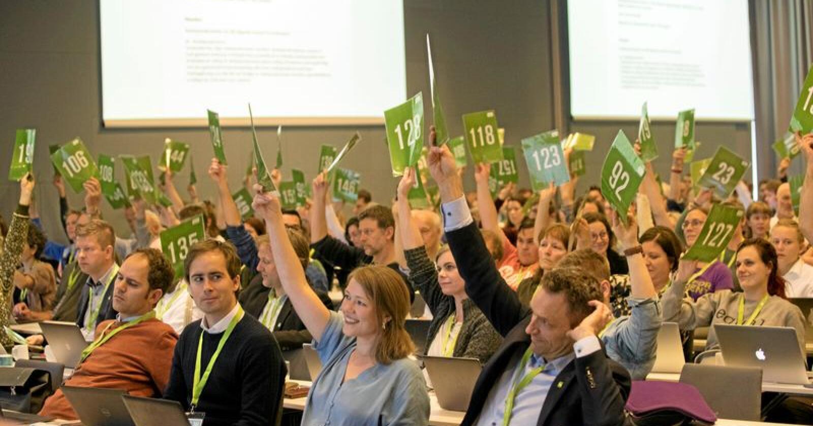 MDG har hatt landsmøte på Fornebu i helgen. Foto: Terje Bendiksby / NTB scanpix