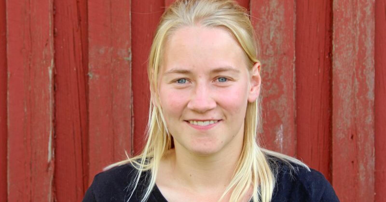 Inger Johanne Brandsrud, bygdepolitisk nestleder i Norges Bygdeungdomslag. Foto: Emma Gerritsen