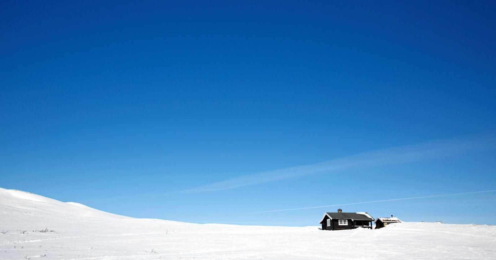 Hyttefolket som vanlegvis skulle ha sett seg i bilen og køyrt til Geilo neste helg må bli heime i år. Foto: Tore Meek / NTB scanpix