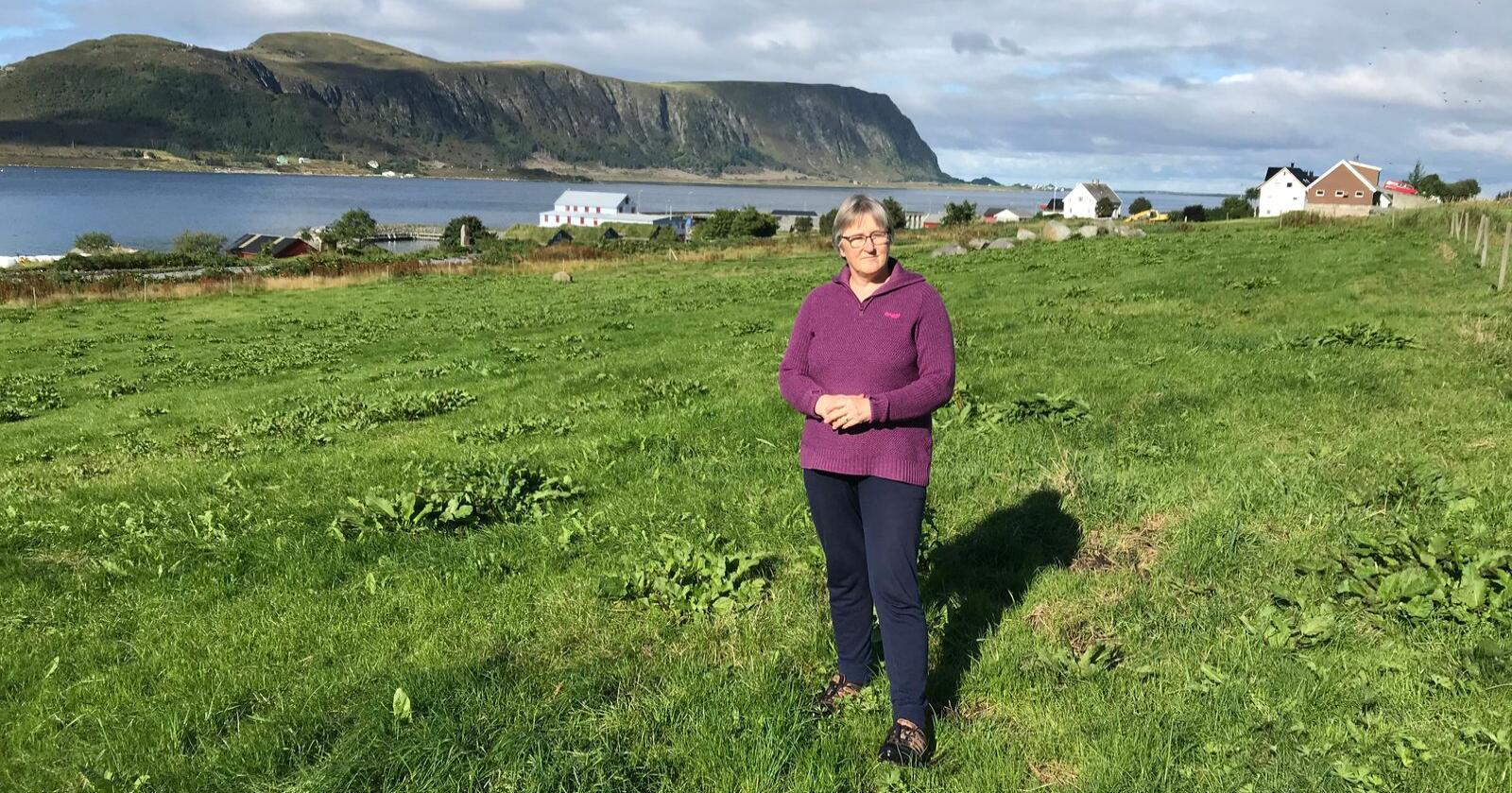 Leiar i «Nei til vindkraftverk på Haramsøya», Birgit Oline Kjerstad, seier at dei har bestemt seg for å anka avgjerda i Sunnmøre tingrett til lagmannsretten. Foto: Privat