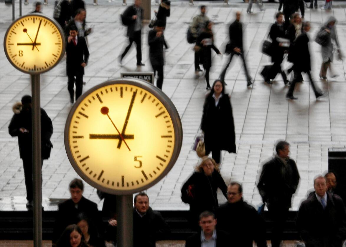 Britiske politikere frykter amerikanerne kan tvinge dem til å velge mellom finansindustrien på Canary Wharf i London (bildet) og britisk landbruk. Foto: Stephen Hird / AP / NTB Scanpix