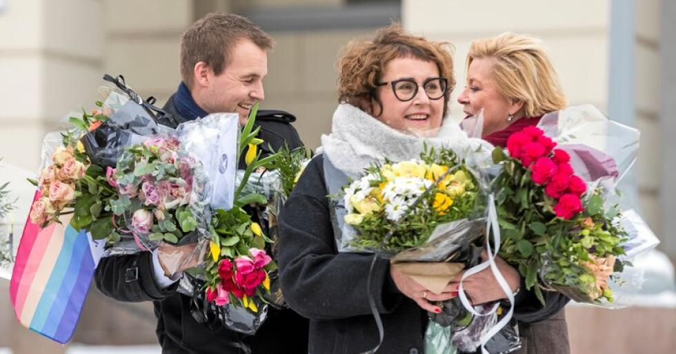 Widar Skogan ble utnevnt som ny statssekretær for landbruksminister Olaug Bollestad (KrF) tirsdag, dagen etter at sønnen trakk seg fra ungdomspartiet. Foto: Heiko Junge / NTB scanpix