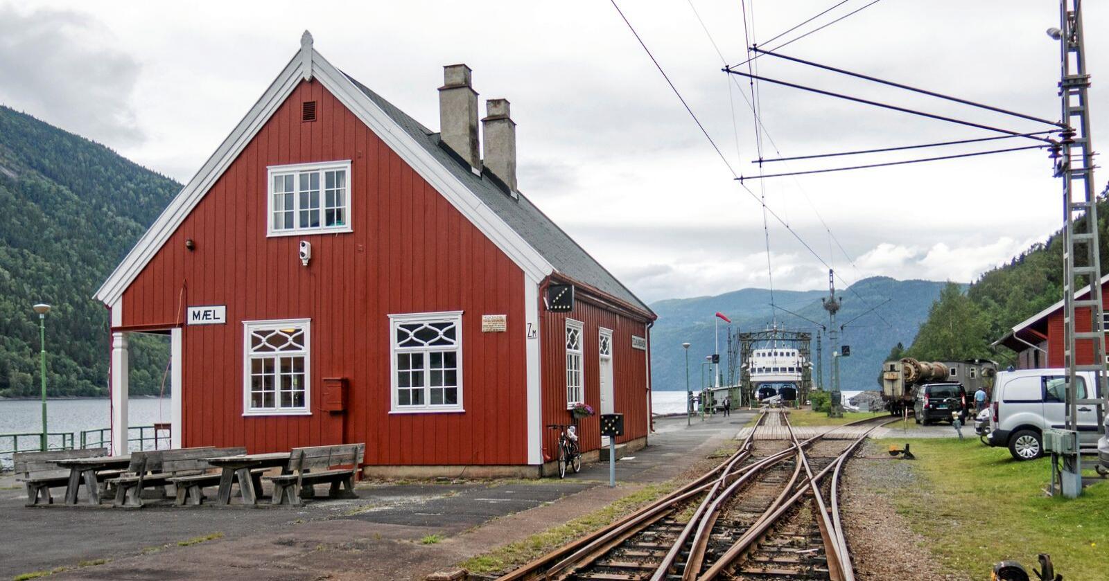Kulturminne: Mæl stasjon på den nedlagte Rjukanbanen i Tinn kommune i Telemark. Foto: Paul Kleiven / NTB scanpix