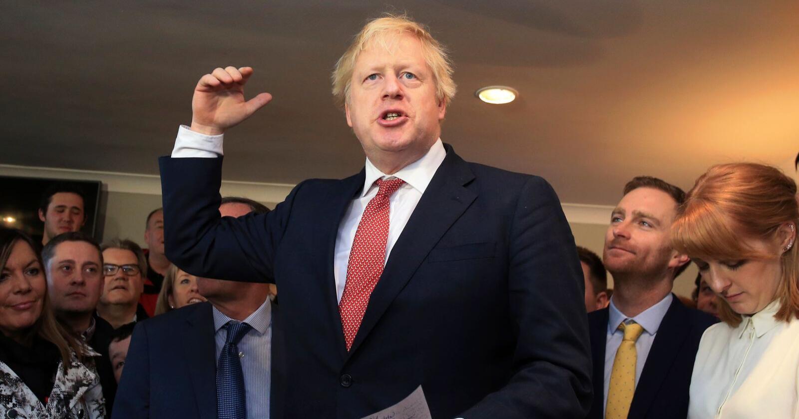 Statsminister Boris Johnson planlegger å legge fram lovforslaget som baner vei for brexit denne uka, sier hans talsmann. Foto: Lindsey Parnaby / AP / NTB scanpix