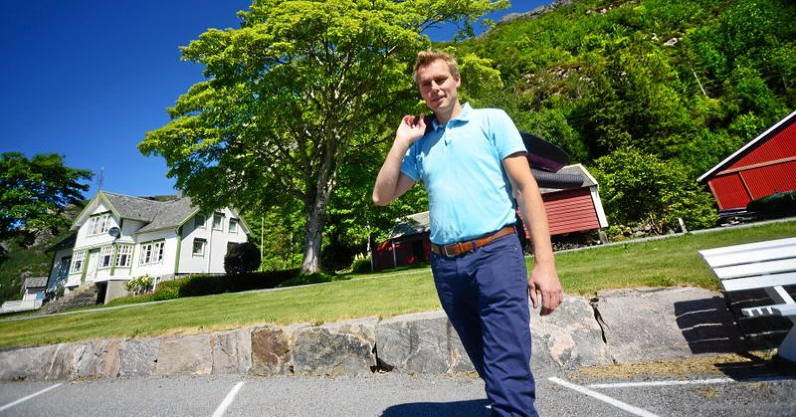 Ola Borten Moe er nestleder i Senterpartiet. Foto: Siri Juell Rasmussen