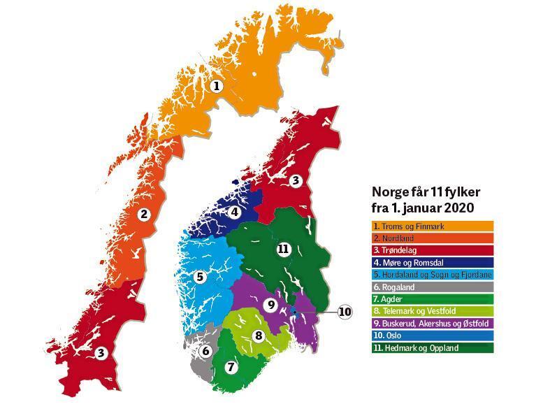 Fra 2020 får Norge 11 fylker. Fylkespolitikere krever flere oppgaver.