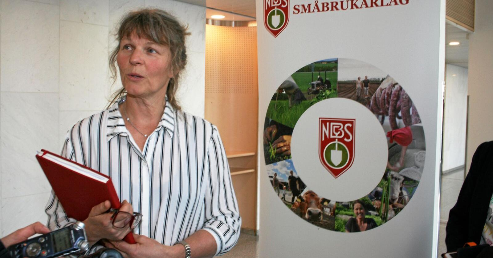 Får oppmoding: Leiar i Norsk Bonde- og Småbrukarlag, Kjersti Hoff. Foto: Bjarne Bekkeheien Aase