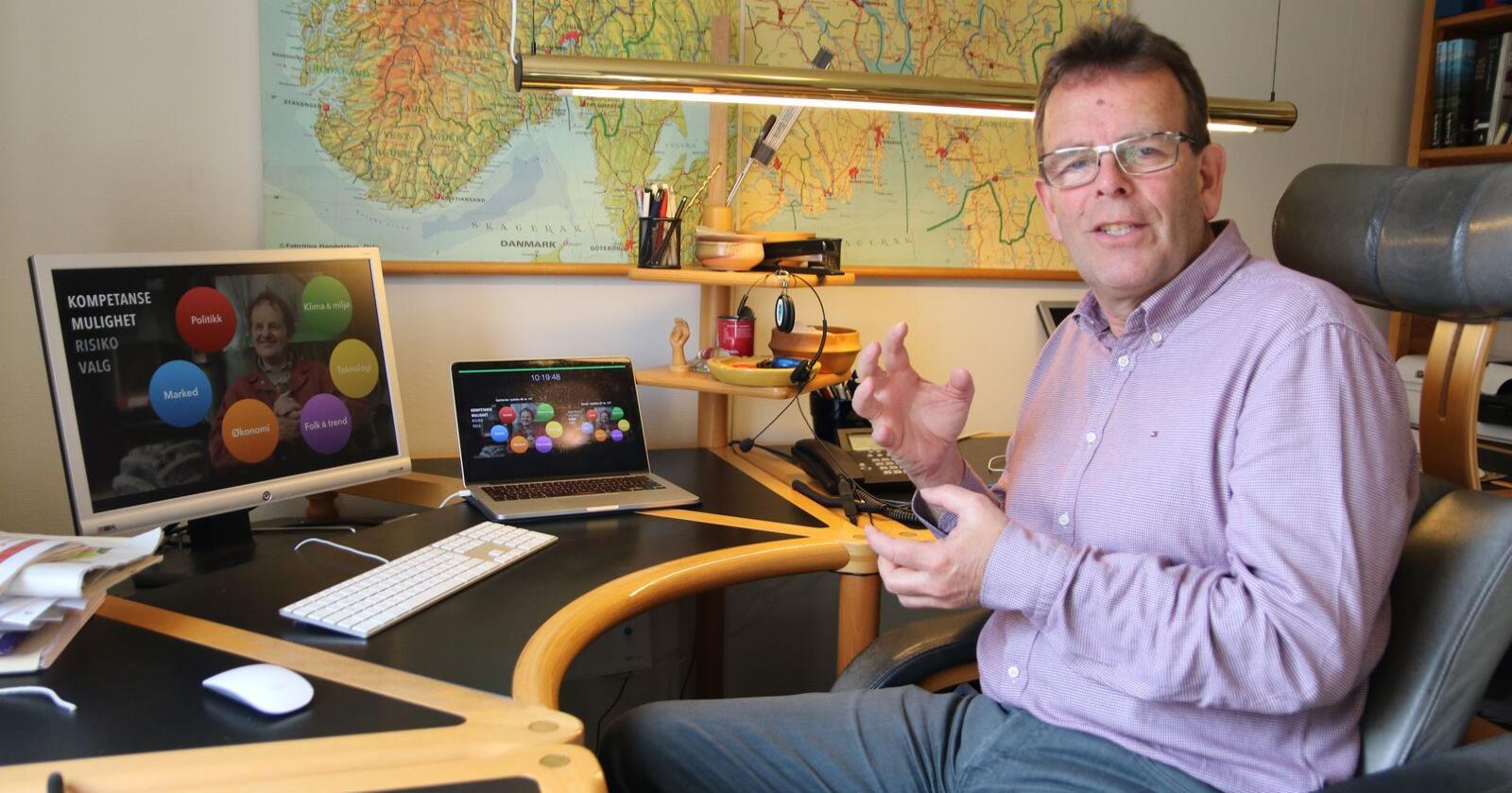 Ole Christen Hallesby driver Hallesby rådgivning i Tønsberg . Foto: Øystein Heggdal