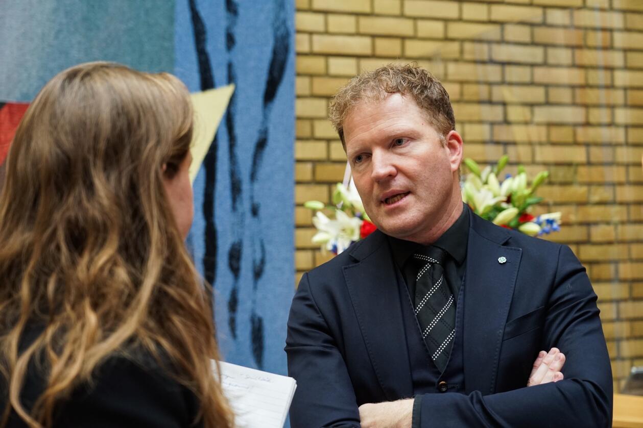 Sigbjørn Gjelsvik i Senterpartiet. Foto: Guro Flaarønning