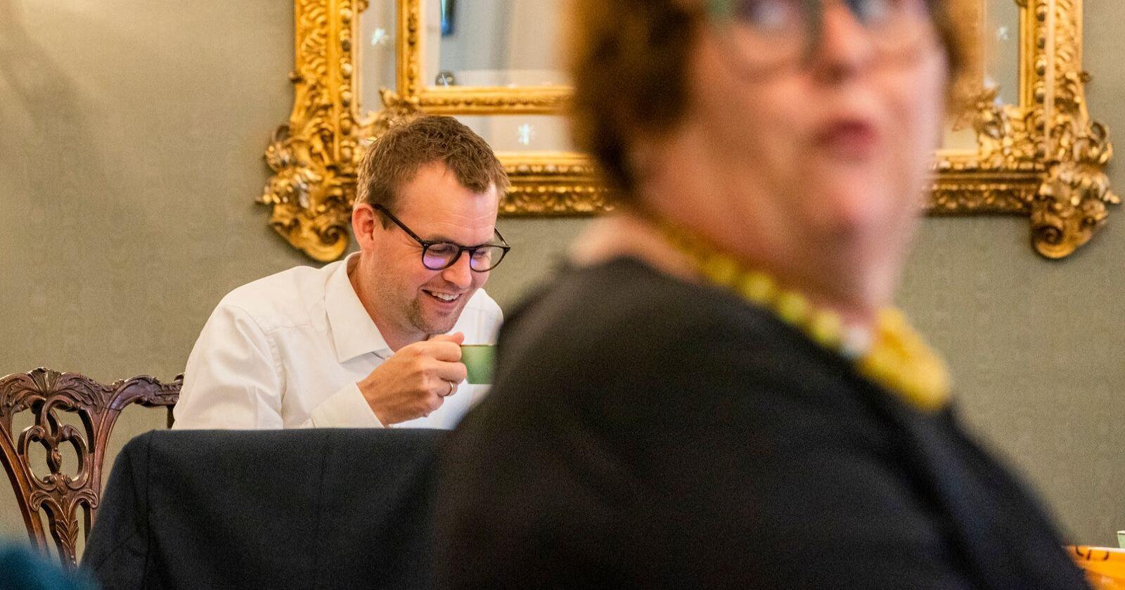 Ser til høyre: KrF-leder Kjell Ingolf Ropstad og Olaug Bollestad kan få taktiske stemmer både fra Høyre og Sp. Foto: Håkon Mosvold Larsen / NTB