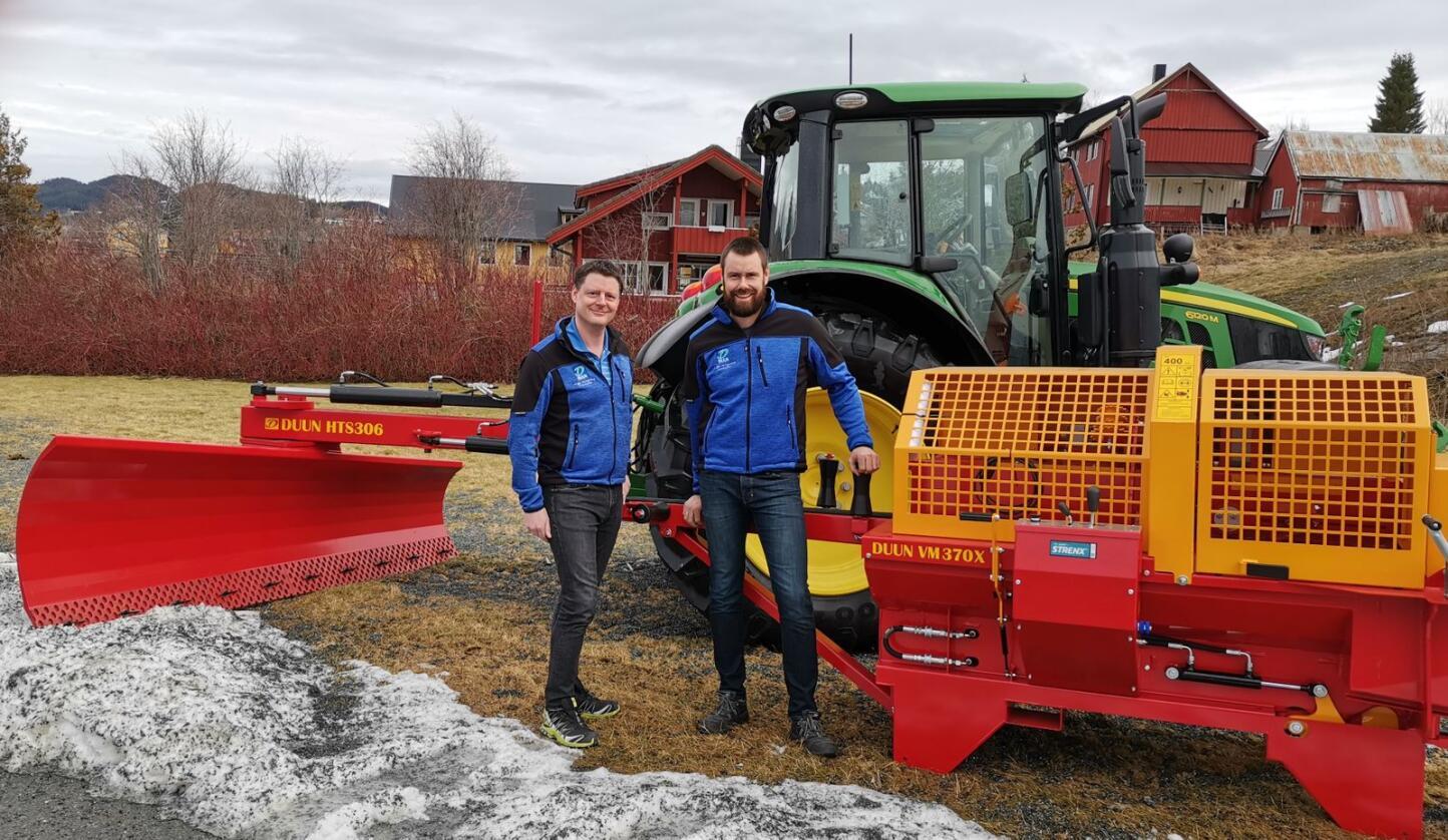 Administrerende direktør, Karl Martin Eggen og markedsansvarlig, Birger Tunset i Duun Industrier ser fram til å utvide samarbeidet med Felleskjøpet.
