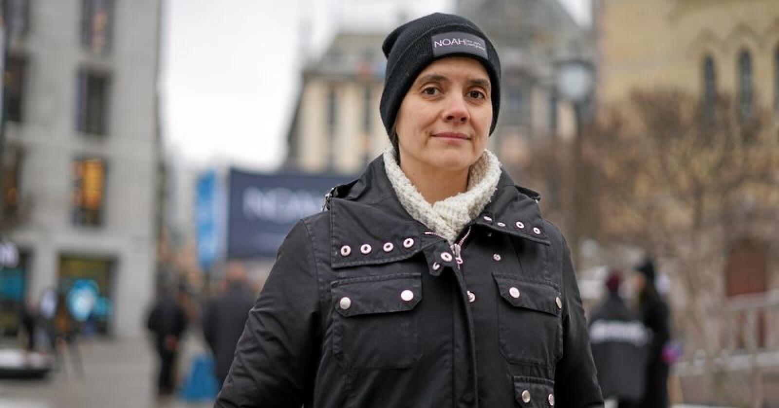 Får kritikk: Siri Martinsen, leder i Noah - for dyrs rettigheter. Foto: Benjamin Hernes Vogl