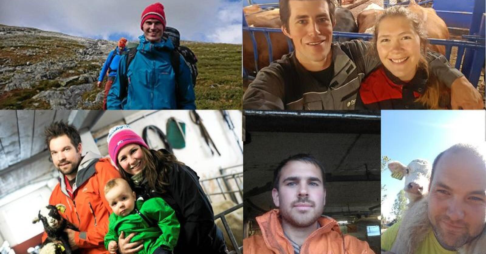 Dette er noen av kandidatene til prisen Årets unge bonde. Alle foto: Privat