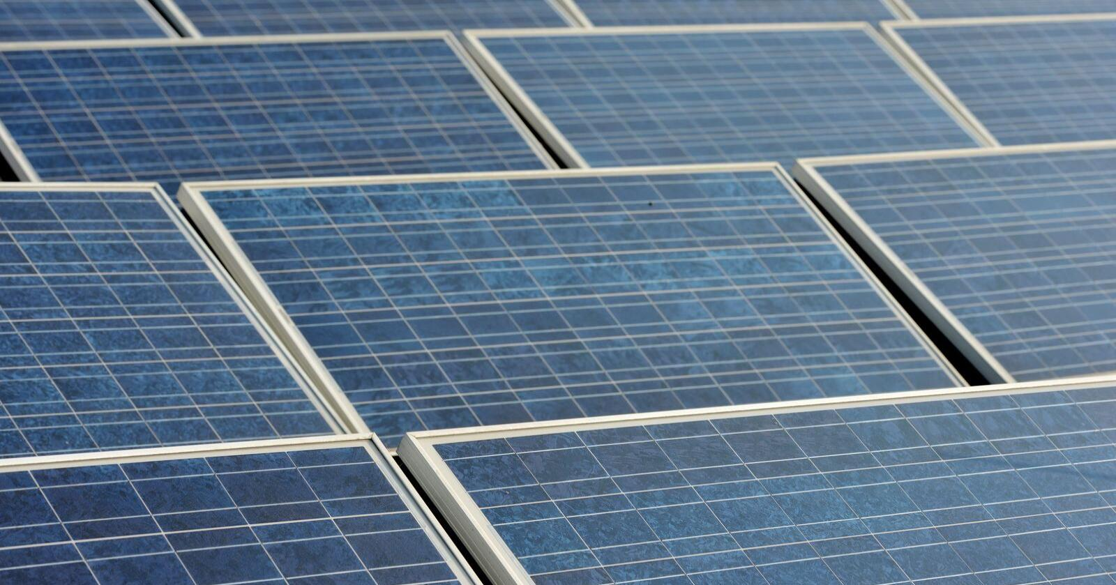 Det har vært en kraftig økning innen solceller i Norge. Illustrasjonsfoto: Frank May / NTB scanpix