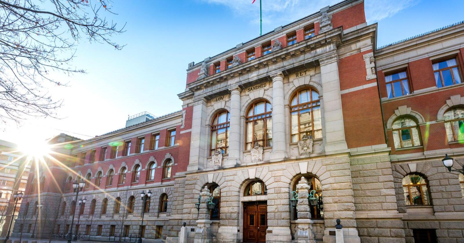 Norges Høyesterett på Høyesteretts plass 1 i Oslo. Foto: Gorm Kallestad / NTB / NPK