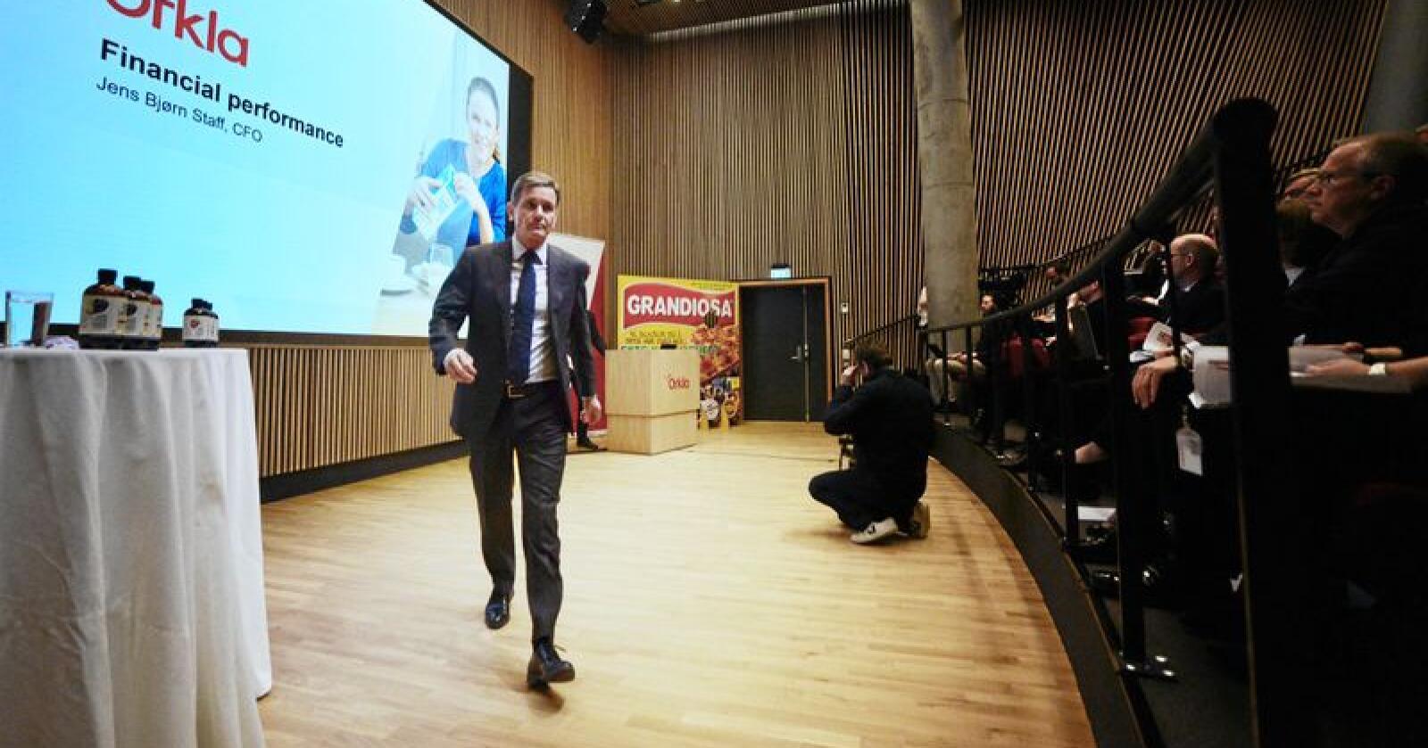 Peter A. Ruzicka har si siste dag på jobb som konsernsjef i merkevareselskapet Orkla tirsdag. Foto: Siri Juell Rasmussen