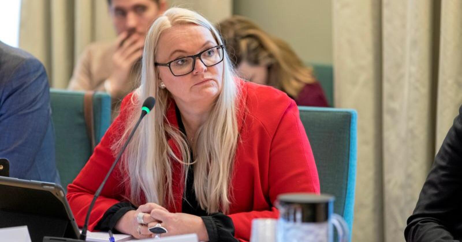 Senterpartiet vil gi aviser 12 millioner kroner, sier partiets Åslaug Sem-Jacobsen til Vårt Land. Foto: Gorm Kallestad / NTB scanpix