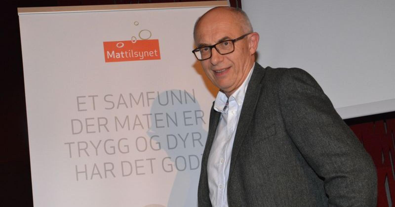 Harald Gjein har vært administrerende direktør i Mattilsynet siden 15. april 2011. (Foto: Anders Sandbu)
