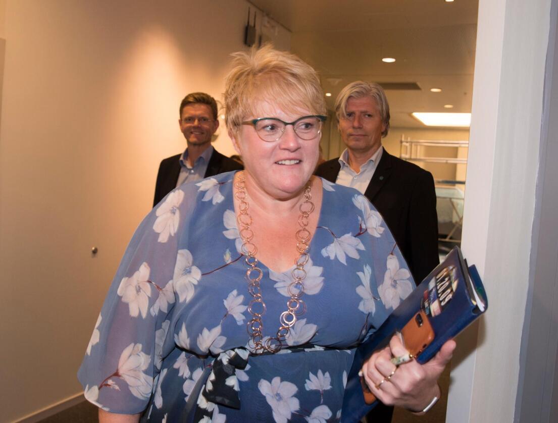 Venstres ledergruppe: Trine Skei Grande, Terje Breivik t.v og Ola Elvestuen t.h. Foto: Terje Pedersen / NTB scanpix