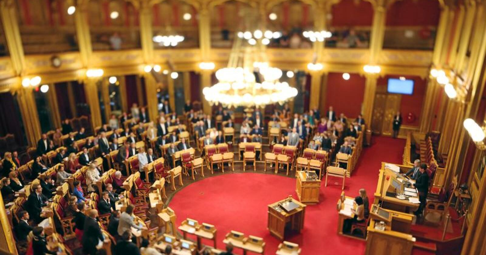 Blei trumfa: Partia som lova veljarane å halda fram med pels, har fleirtal på Stortinget. Foto: Ørn E. Borgen / NTB scanpix