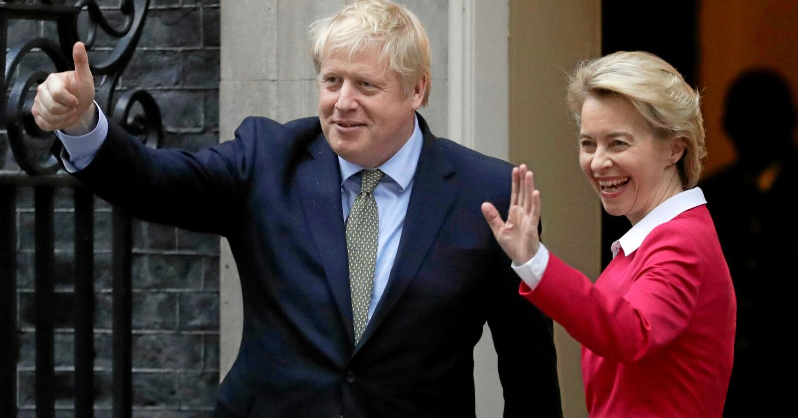 Skal føre Storbritannia ut: Den britiske statsministeren Boris Johnson og EU-kommisjonens president Ursula von der Leyen møttes tidligere i januar. Foto: Matt Dunham / AP / NTB scanpix