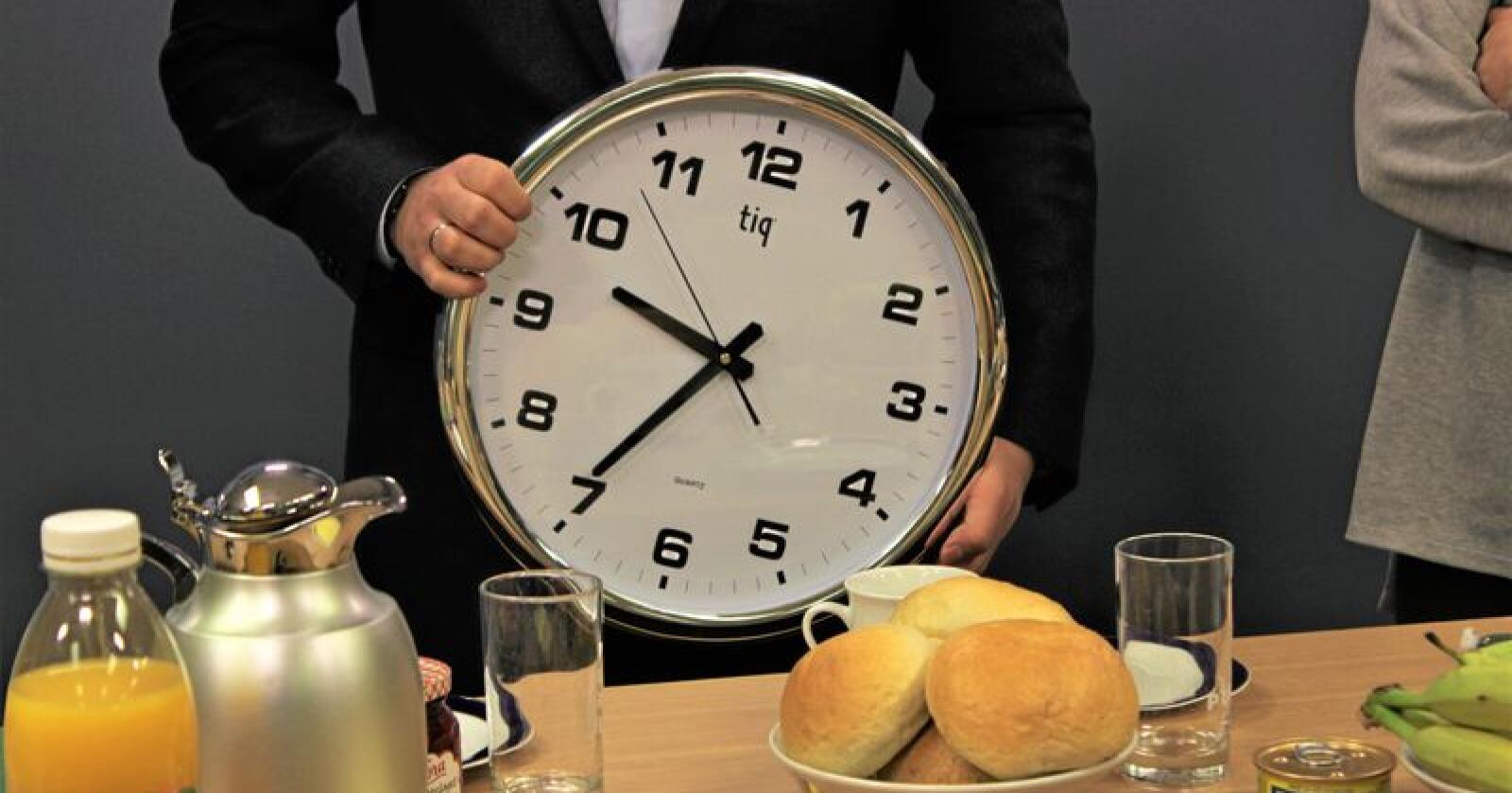 Søndag skal vi igjen stille klokka. Foto: Jon-Fredrik Klausen