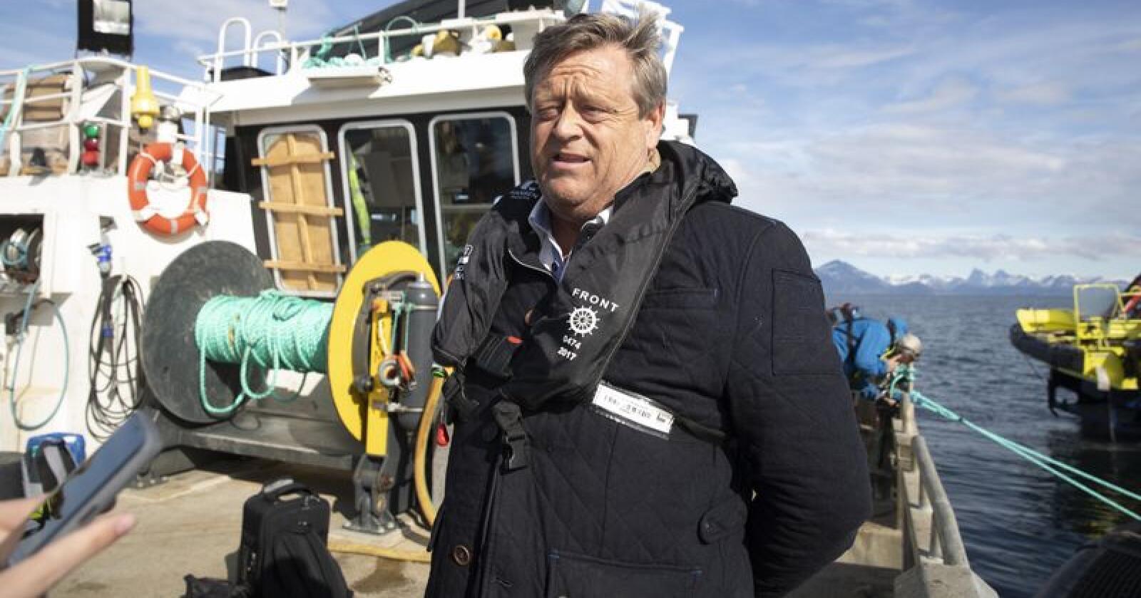 Fiskeriminister Harald T. Nesvik trur på store moglegheiter for norsk sjømat i Kina og Sør-Korea. Foto: Berit Roald / NTB scanpix / NPK