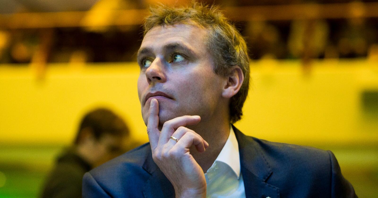 Senterpartiets nestleder Ola Borten Moe sier partiet har sterkt eierskap til iskanten der den går i dag. Bildet er fra landsmøtet i 2019. Foto: Terje Pedersen / NTB scanpix