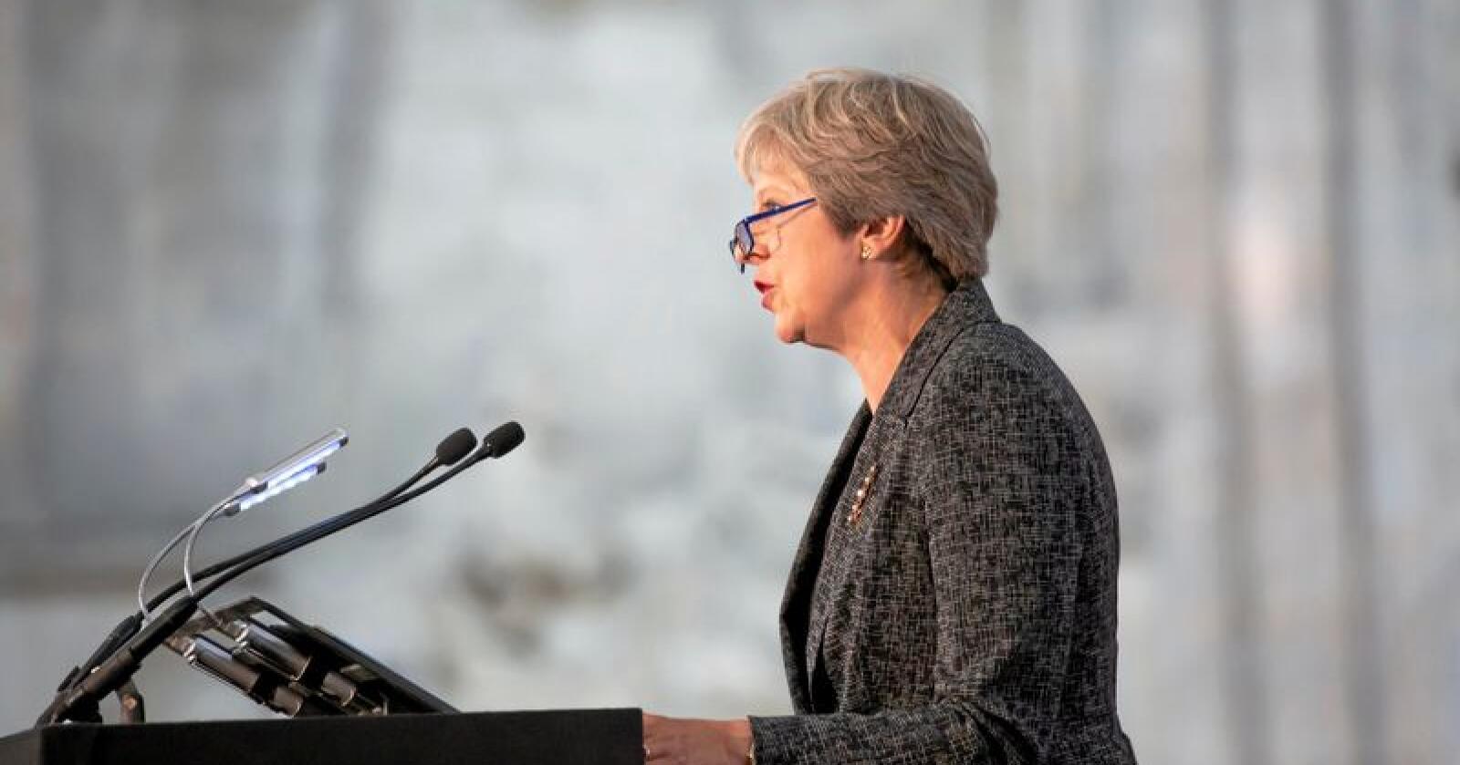 Statsminister Theresa May må belage seg på tøffe politiske slag også denne høsten. Foto: Sebastien Courdji / AP / NTB Scanpix