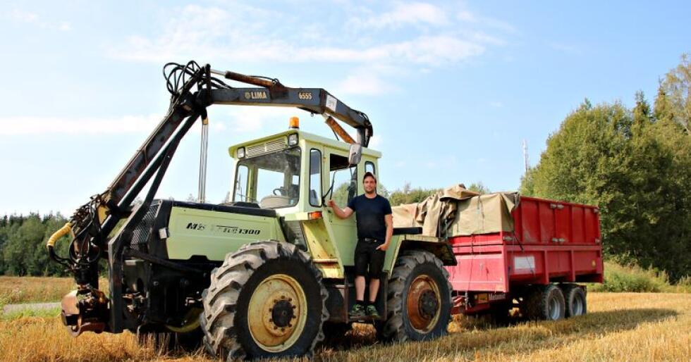 Skogsmaskin: Fredsruds MB Trac 1300 Turbo er en stilig doning med Lima 6555 tømmerkran. (Foto: Lars Raaen)