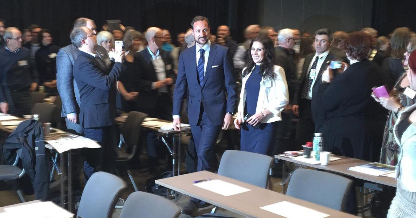 Kastet glans: Kronprins Haakon deltok på Mat og Landbruk 2016. (Foto: Iver Gamme)