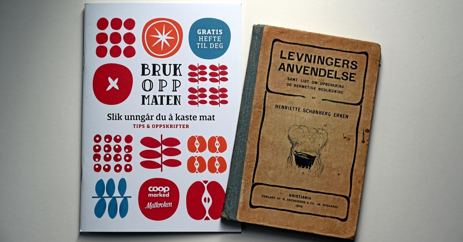 Før og nå: I mer enn hundre år har vi kunnet lese oss til at det dumt å kaste mat, og at «Brødrester kan benyttes til suppe, brødboller, arme riddere, kan tørres, stødes og brukes som kavring». Dagens matskribenter sier akkurat det samme som en insisterende Henriette Schønberg Erken satte ned på arket i 1905. Foto: Per A. Borglund